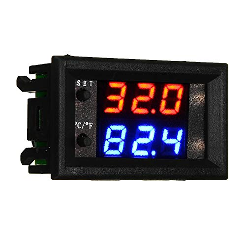 ROUHO W2809 W1209Wk Dc12V Digitale Led-Thermostat-Temperaturregler Modul Smart Temp Sensor Board Mit Wasserdichtem Ntc Sensor