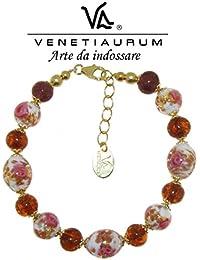 Venetiaurum - Murano glass and 925 silver Bracelet, Made in Italy