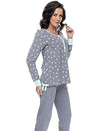 dn nightwear Damen Schlafanzug / Pyjama ISABELLA für Schwangerschaft und Stillzeit / Langarm
