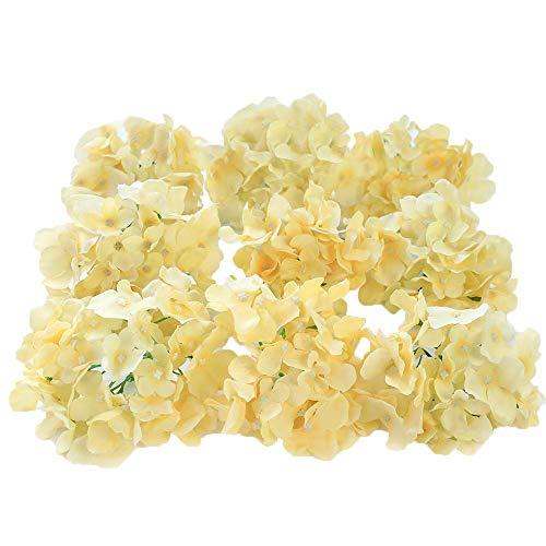 Veryhome Blooming Seiden-Hortensien, Blumenköpfe für selbstgemachte Blumensträuße, Aufsteller zu Hochzeiten, Heimdekor