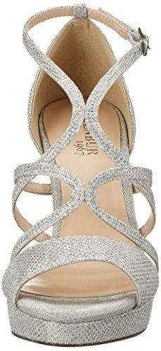 Menbur Pretoria, Chaussures Compensées Femme Silber (Silber)