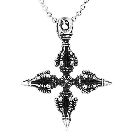 Magic thai amulet al mejor precio de amazon en savemoney double vajra dorje stainless steel pendant tibet thai amulet necklace magic pha yant luck aloadofball Gallery