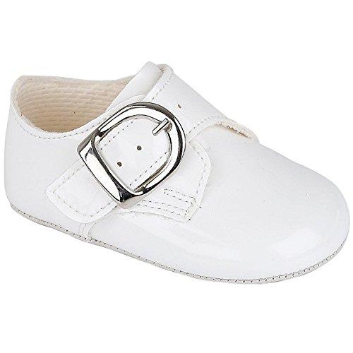Pour bébé garçon époque Baypods Smart boucle Chaussures de six mois et de moins de 36 mois Blanc - blanc