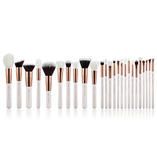 Jessup, set di pennelli professionali per make-up, 25 pezzi, per fondotinta, blush, ciglia, rossetto, setole naturali - sintetiche