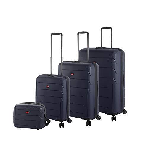 Hochwertiges 4-Teiliges 100% Polypropylen Reise Koffer-Set Von Cronshagen klein-mittel-groß Trolley mit Hartschale, 4X 360° Rollen, TSA-Schloss, inkl....