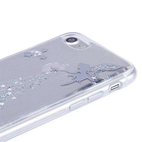 iPhone 6S liquide Coque, iPhone 6Coque Bling, iPhone 6s 11,9cm Coque paillettes, CE iPhone 6S 6Luxe Bling Paillettes Diamant Fluide 3d Creative Quicksand Housse, iPhone 6s Coque [avec anneau Béquil B Angel 4