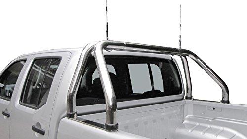 Edelstahl Überrollbügel 76 mm für Pickup's - universell passend - verstellbar passend für Ladeflächenbreite von 1500-1680 mm.