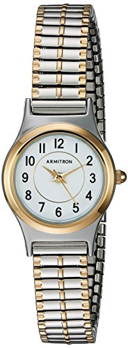 Armitron Women's 75/5420WTTT Easy To Read Dial Two-Tone Expansion Band Watch