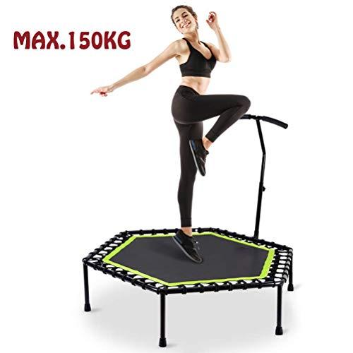 """SJWR 48\""""Sechskant-Trampolin, faltbares Fitness-Trampolin mit Griff für den Außen- und Innenbereich, für Kinder und Erwachsene geeignet, Tragkraft: 150 kg"""