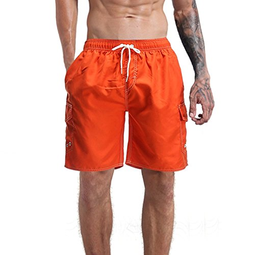 a5bc638e3384 Milankerr Men's Swim Trunk Orange