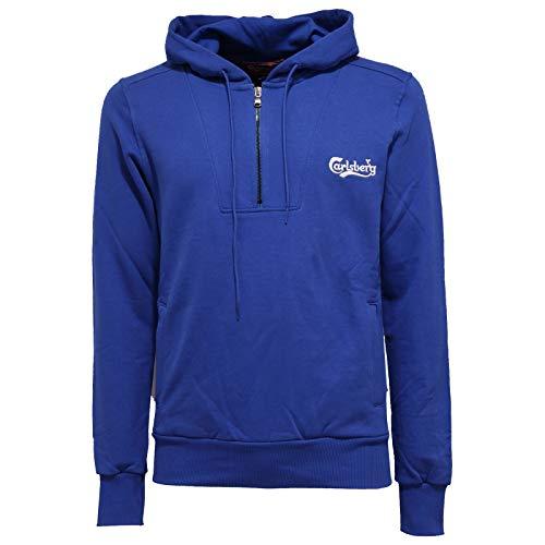 Carlsberg 8565K Felpa Uomo Bluette Heavy Cotton Sweatshirt Man [M]