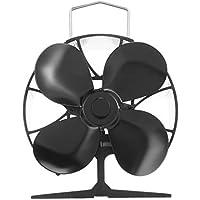 CremeBruluee EQ-4BKA calor eficiente ventilador de distribución 4 Hoja estufa de calor del ventilador