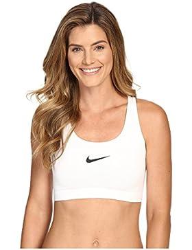 Nike W Np Pro Classic Swoosh Bra, Sujetador deportivo para Mujer, Blanco (White/Black), L