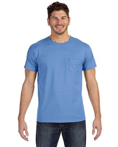 Hanes Herren Asymmetrischer T-Shirt Blau - Vintage Blue