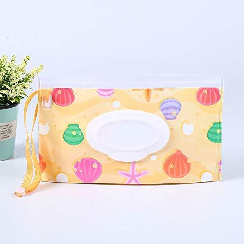 Bolsa de toallitas húmedas para bebé, portátil, dispensador de toallitas de viaje, rellenable, para pañales, toallitas húmedas, bolsa de embrague random