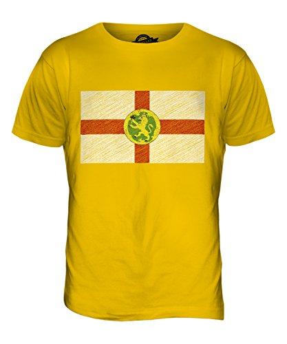 CandyMix Alderney Kritzelte Flagge Herren T Shirt Dunkelgelb
