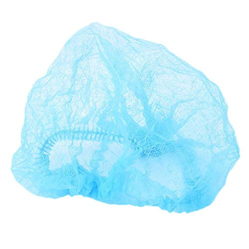 WEIWANA 1 PCS Hair Disposable Caps Pleated Anti Dust Hat Hotel Salon  Supplies Set Blue Bouffant Shower Caps Bathroom Accessories