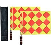 Bandiere di calcio per arbitro e guardalinee Odowalker con asta in metallo e manico di schiuma con sporta per il trasporto