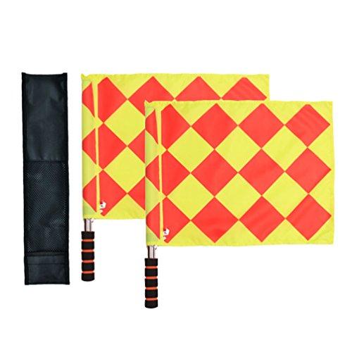 Bandiere di calcio per arbitro e guardalinee Odowalker con asta metallo e manico di schiuma con sporta per il trasporto