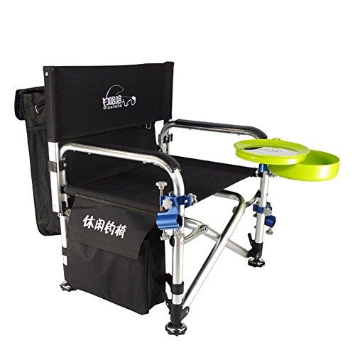 Yhkqs-kqs sedia a braccioli, sedie esterne pieghevoli portatili camping sedie a sdraio sgabelli da pesca per pesca grossa e carpa