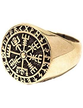 WINDALF Vegvisir Ring RAGSØN Wikinger Runen Kompass Bronze