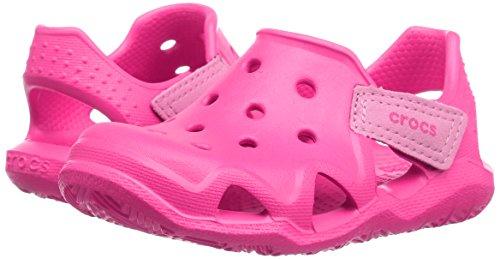 Crocs Kinder Unisex 204021 Mokassins Oxford, Pink (Neon Magenta), 25/26 EU -