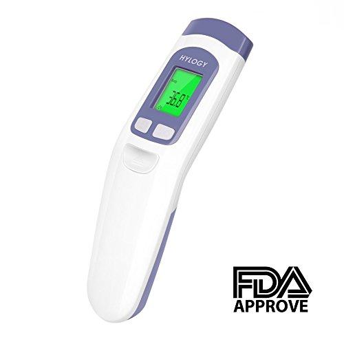 hylogy Digital Termómetro frontal, termómetro infrarrojo Termómetro para bebé, adulto, superficie de objetos