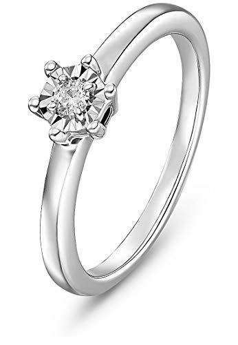 072c0da4b404 Guido Maria Kretschmer by CHRIST Damen-Ring 375er Weißgold 1 Diamant ca.  0,08 Karat weißgold, 60 (19.1)