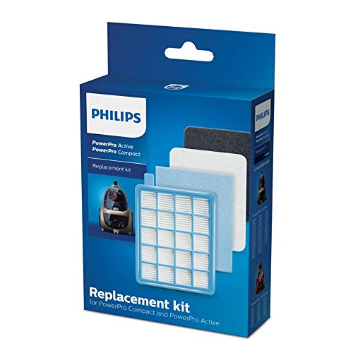 Philips FC8058/01 Kit 1 HEPA 10-Ausgangsfilter, 1 Motorfilter, 1 Schaumfilter Für Philips PowerPro Active FC863X-Staubsauger