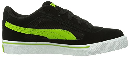Puma  Puma S Evolution Jr, Peu mixte enfant Noir - Schwarz (black-lime green 06)