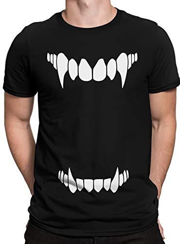 hirt Vampirzähne, Monster Zähne, Halloween & Karneval Kostüm, Größe:XL, Farbe:Schwarz ()