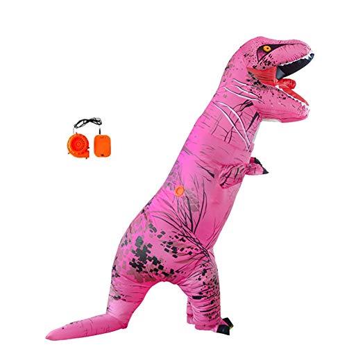 Lvbeis Erwachsene Aufblasbare Dinosaurier Kostüm T-Rex Costume for Halloween Horror Party Outfit Für Größe 150 cm-2 mt,Pink