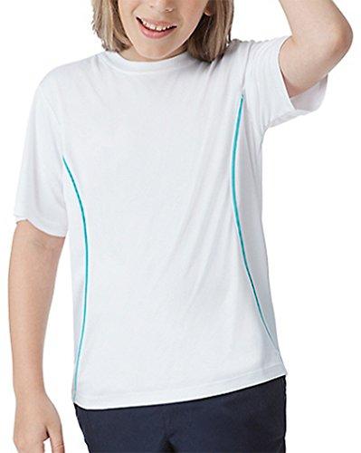 Fila Boys Fundamental Crew Shirt White / Turquoise