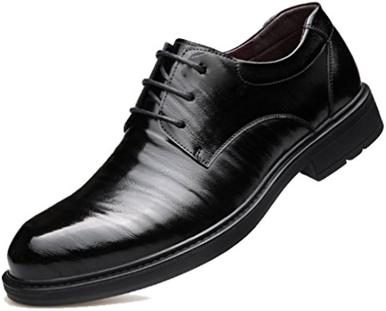 XYNXKZ Hombres Informal Retro Moda Cómodo Negocios Atado Británico Transpirable Zapatos De Cuero -