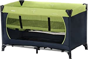 Hauck Dream N Play Travel Cot - Moonlight/Kiwi,100 x 70 cm (Approx)