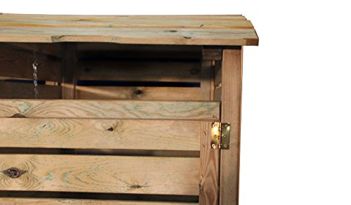 Mülltonnenbox aus Holz, Mülltonnenverkleidung – zweifach (für 2 Tonnen bis 240 Liter), wetterfest und somit ideal für draußen / Outdoor geeignet - 7