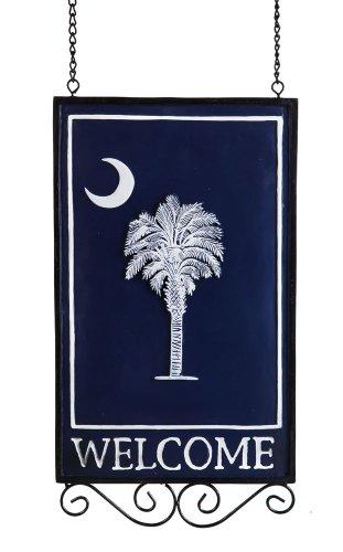 Evergreen Enterprises 22374South Carolina state Flag Welcome Sign-palma