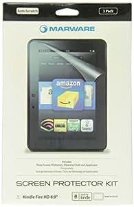 """Marware - Ultra-Clear - Film de protection d'écran pour Kindle Fire HD 8,9"""" (2ème génération - modèle 2012), Pack de 3"""