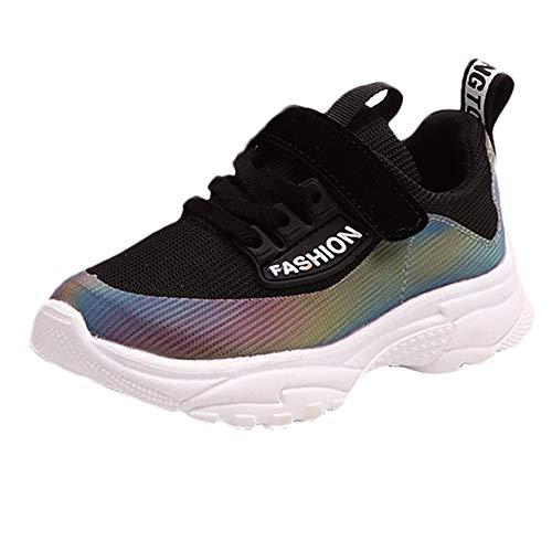 Chaussures Bébé Binggong Enfant en Bas âge Enfants Sport Running Imprimer Mesh Chaussures Sneakers Symphony PU + Chaussures de Sport Tissées Volantes pour Garçons Filles