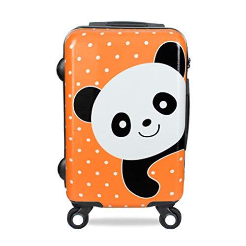 Reisegepäck Cartoon, niedlicher Panda ABS + PC Koffer männlich und weiblich Studenten Password Box Universal Rad Boarding Trolley Koffer Trolley Handgepäck Hard Shell Travel Bag