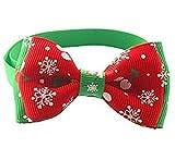 AJOYCN Bow Christmas Collare Regolabile Cane Gatto Papillon Albero di Natale Cane Gatto Collare Collare Bow Tie