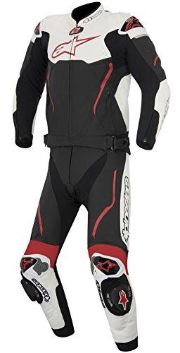Alpinestars Atem 2teiliger Lederkombi 15, Farbe schwarz-weiss-rot, Größe 54