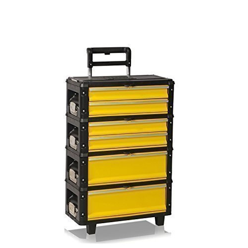 Werkzeugtrolley mit 6 Schubladen, gelb