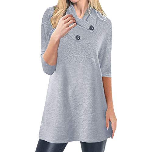 NPRADLA 2018 Herbst Winter Damen Sweatshirt Einfarbig Warm Taste Langarm Pullover Bluse Shirts