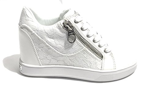Guess Damen Footwear Active Lady Sneaker, Bianco (White), 38 EU (Guess Flats Schuhe)