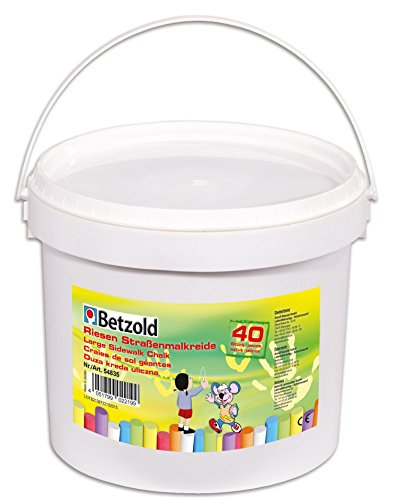 Betzold Straßen-Malkreide, Kreide, Straßenkreide für Kinder, 40 Stangen in schönen Farben, in...