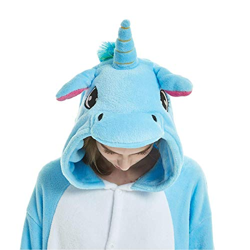 ABYED® Kostüm Jumpsuit Onesie Tier Fasching Karneval Halloween kostüm Erwachsene Unisex Cosplay Schlafanzug