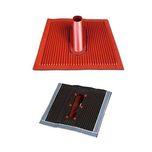 Universal-manschette-adapter (Aluminium Dachabdeckung Alu Dachziegel Rot Dach Montage Abdeckung Ziegel Dachpfanne für Sat Dachsparrenhalter Universal Dach Pfanne ziegelrot braun)