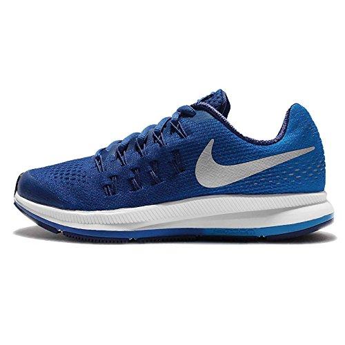 Nike Zoom Pegasus 33 (GS), Zapatillas de Running para Hombre, Azul (Game Royal/Metallic Silver-Photo Blue), 38.5 EU