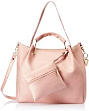 Venosa Amazon Women's Shoulder with Pouch and Sling Bag (Light Pink) (Set o